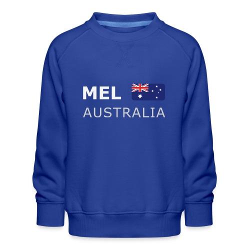 MEL AUSTRALIA white-lettered 400 dpi - Kids' Premium Sweatshirt
