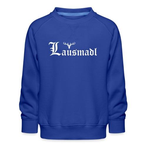 Lausmadl mit Hirsch - Kinder Premium Pullover