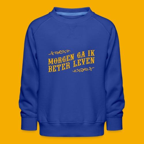 tshirt yllw 01 - Kinderen premium sweater