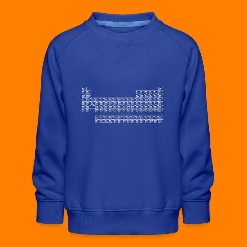 periodic white - Kids' Premium Sweatshirt