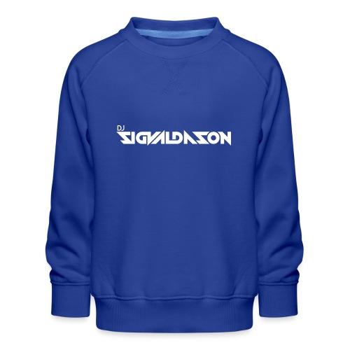 DJ logo hvid - Børne premium sweatshirt