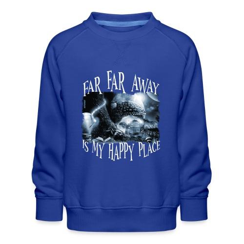 My Happy Place - Black & White - Kinderen premium sweater
