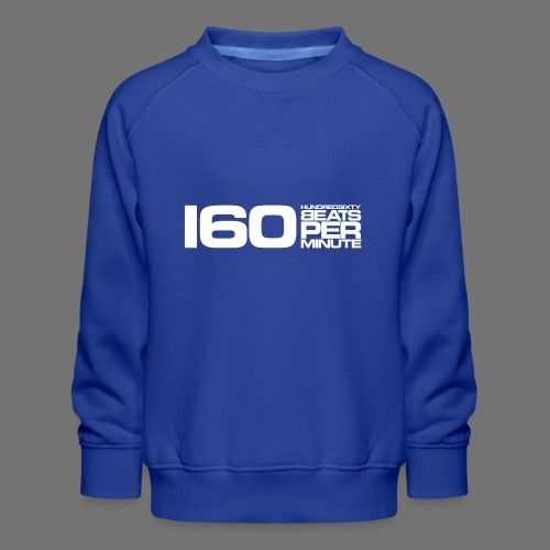 160 BPM (hvid lang) - Børne premium sweatshirt