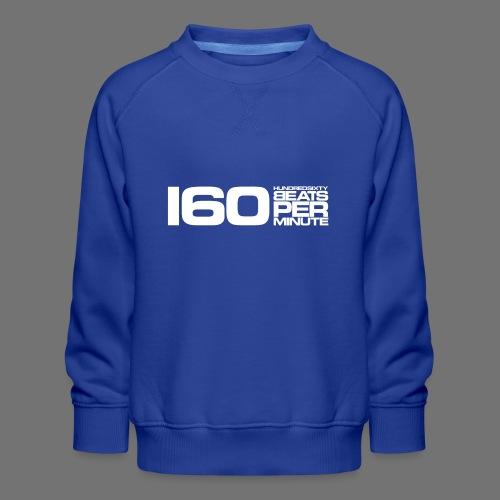 160 BPM (white long) - Kids' Premium Sweatshirt