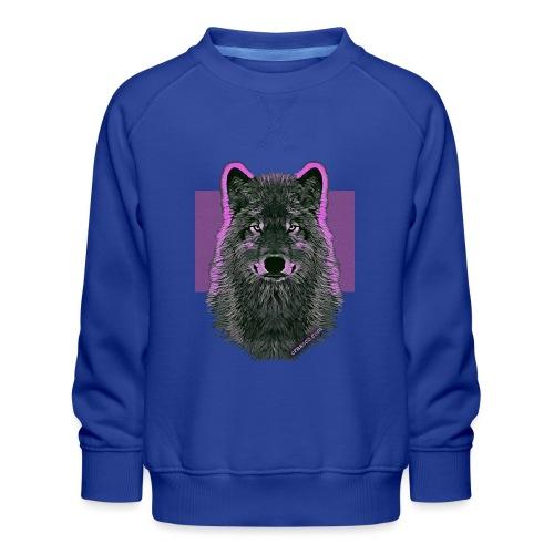 WOLF PINK IN LOVE - Kinder Premium Pullover