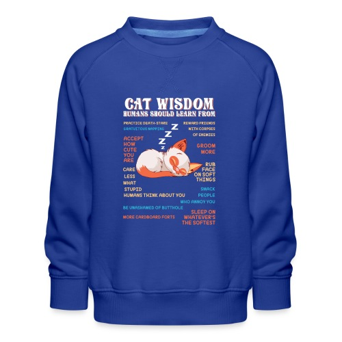CAT WISDOM - Sweat ras-du-cou Premium Enfant