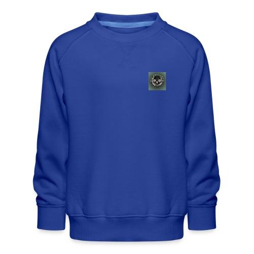 Rigormortiz Dark Solid Background Logo Design - Kids' Premium Sweatshirt