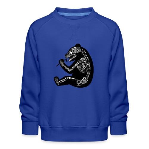Panda skelet - Kinderen premium sweater