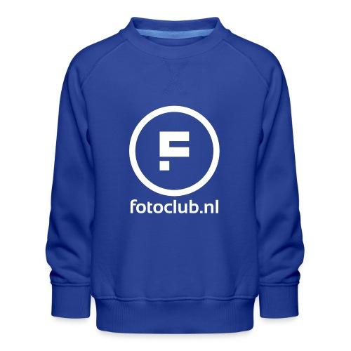 Logo Rond Wit met tekst - Kinderen premium sweater