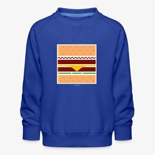 Square Burger - Felpa premium da bambini