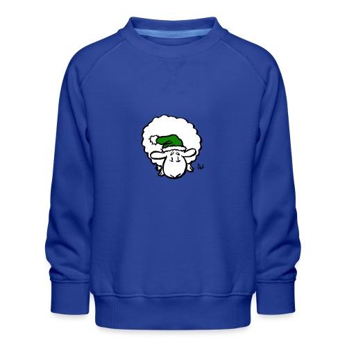 Santa Sheep (verde) - Felpa premium da bambini