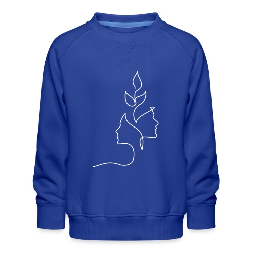 Tanke Hvid - Børne premium sweatshirt
