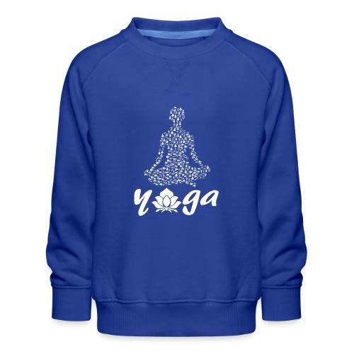 yoga fiore bianco namaste pace amore hippie fitness - Felpa premium da bambini