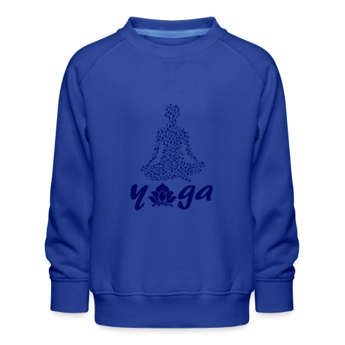 yoga fiore namaste pace amore hippie arte fitness - Felpa premium da bambini