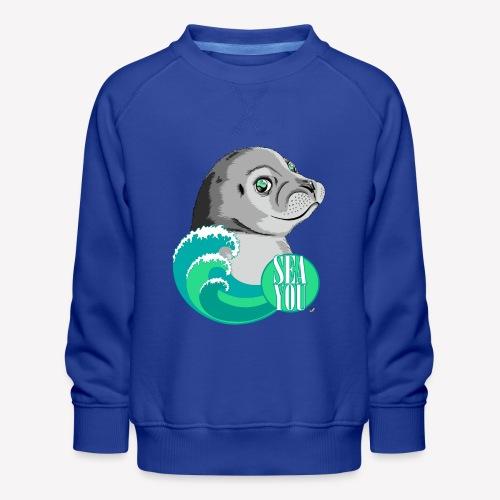 Sea You - Blue Waves - Kinder Premium Pullover