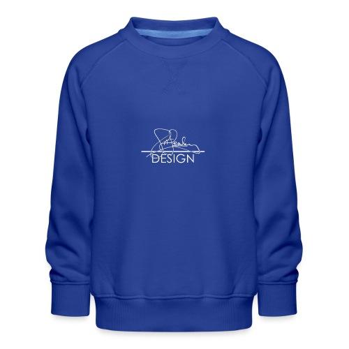 sasealey design logo wht png - Kids' Premium Sweatshirt