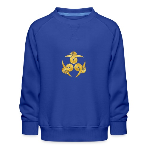 Three Geese Japanese Kamon in gold - Kids' Premium Sweatshirt