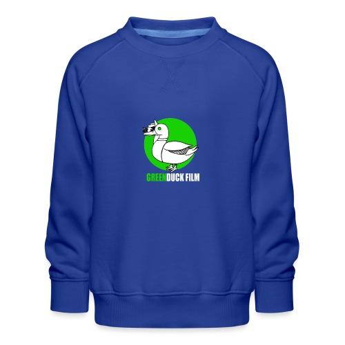 Greenduck Film Ghost Duck Logo White Letters - Børne premium sweatshirt