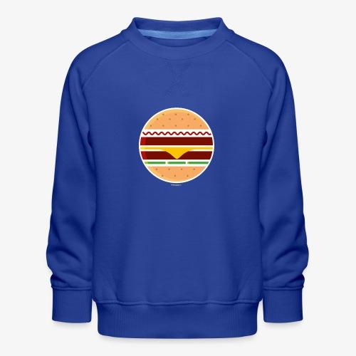 Circle Burger - Felpa premium da bambini