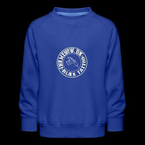logo hvid png - Børne premium sweatshirt