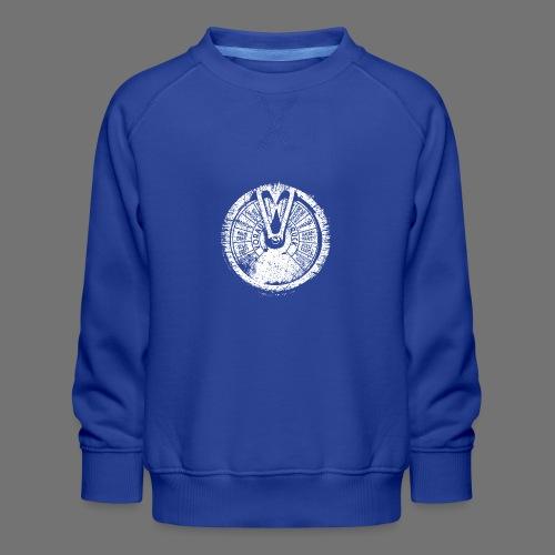 Maschinentelegraph (hvid oldstyle) - Børne premium sweatshirt