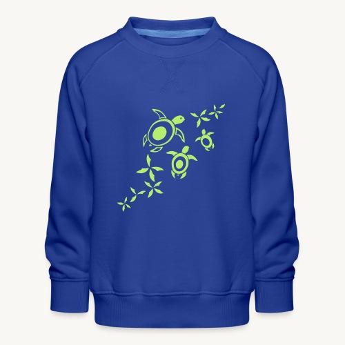blumige Wasserschildis - Kinder Premium Pullover