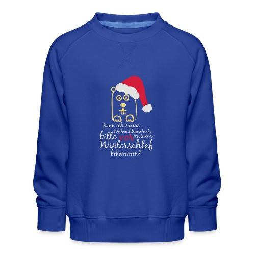 Winterschlaf Geschenke - Kinder Premium Pullover