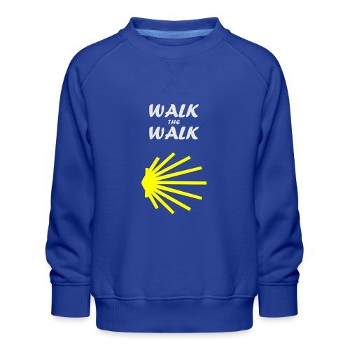 Walk the Walk - Camino de Santiago - Børne premium sweatshirt