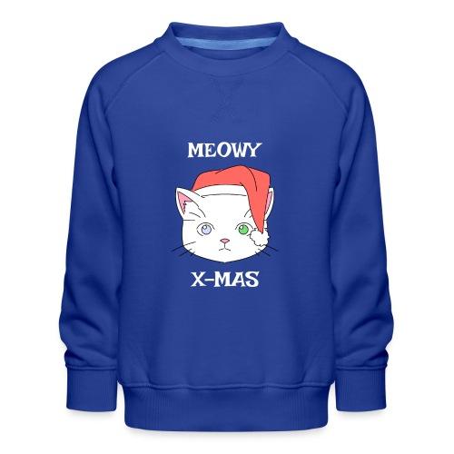 Meowy X-mas - Premium-genser for barn