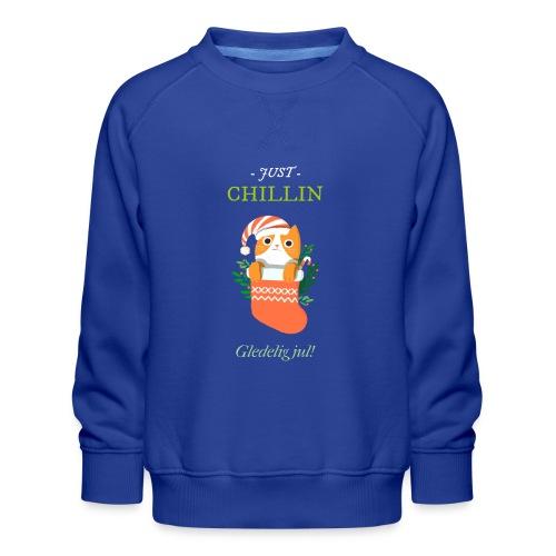 Just chillin - Gledelig jul - Premium-genser for barn