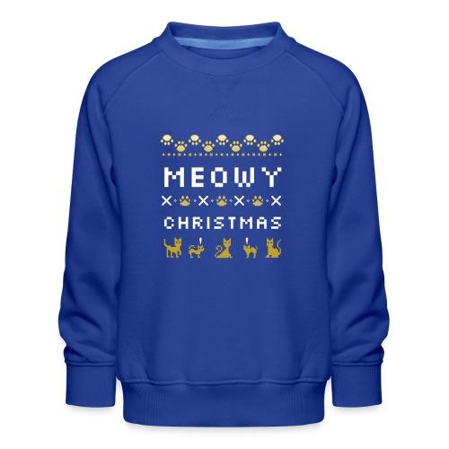 meowy christmas - Premium-genser for barn