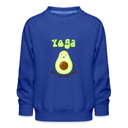 yoga avocado namaste pace amore hippie relax - Felpa premium da bambini