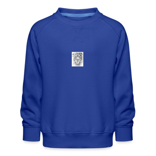 lion sketched png - Kids' Premium Sweatshirt
