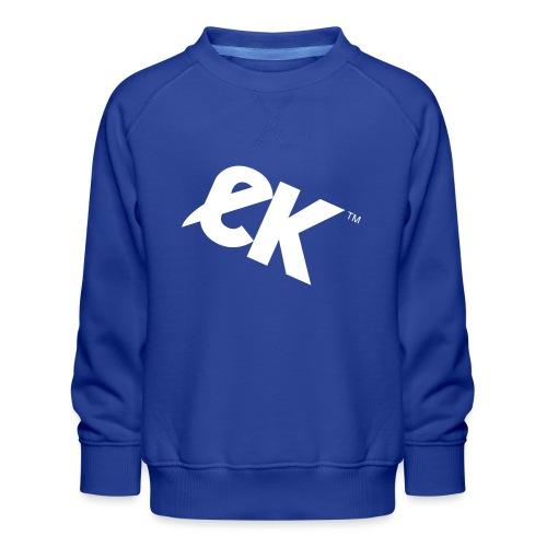 EK logo blanc # 1 - Sweat ras-du-cou Premium Enfant