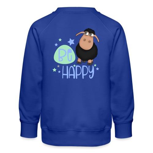 Schwarzes Schaf - Be happy Schaf - Glücksbringer - Kinder Premium Pullover