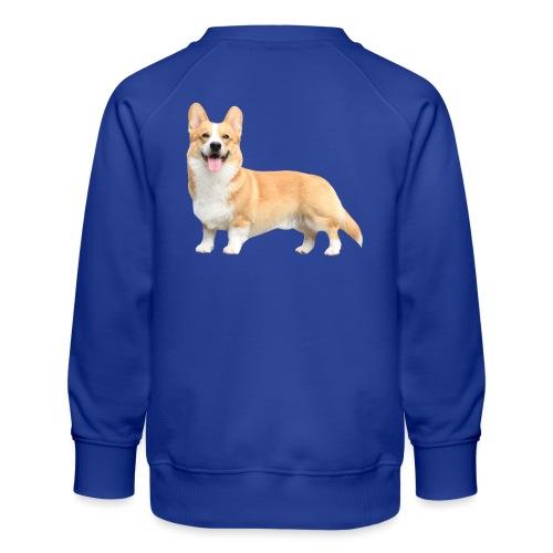 Topi the Corgi - Sideview - Kids' Premium Sweatshirt
