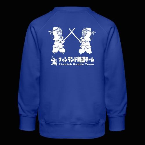 fka team logo white - Lasten premium-collegepaita