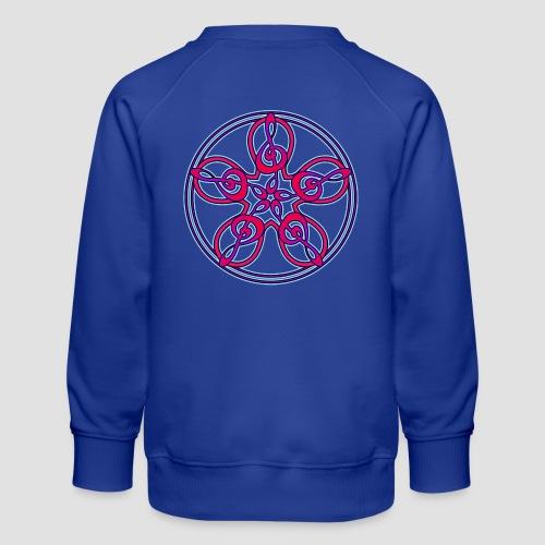 Treble Clef Mandala (red/violet/blue) - Kids' Premium Sweatshirt