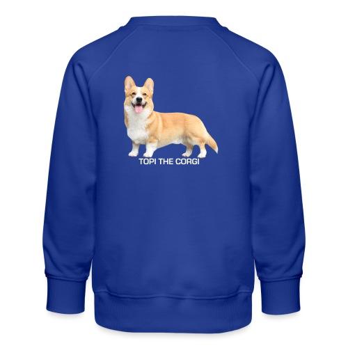 Topi the Corgi - White text - Kids' Premium Sweatshirt