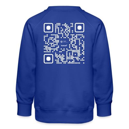 QR - Maidsafe.net White - Kids' Premium Sweatshirt