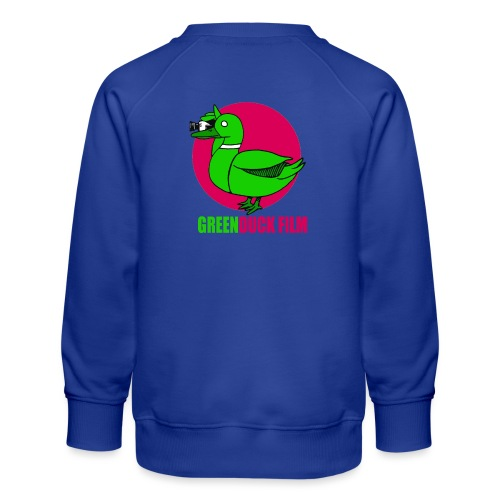 Greenduck Film dark pink Sun Logo - Børne premium sweatshirt
