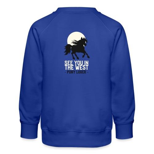 Silhouet pony design voor ponyliefhebbers - Kinderen premium sweater