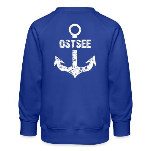 Fashionbutze Anker Ostsee weiss - Kinder Premium Pullover