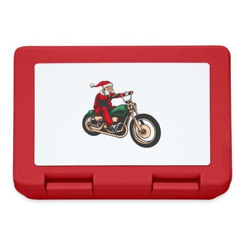 Cool Winter Christmas Santa Motor Biker - Lunchbox
