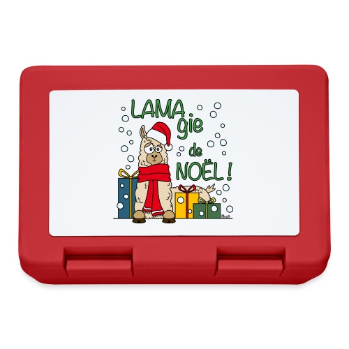 Lama, Magie de Noël, Happy Christmas, Pull moche - Boîte à goûter.