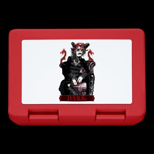 Créature gothique assise avec crânes et dragons - Boîte à goûter.