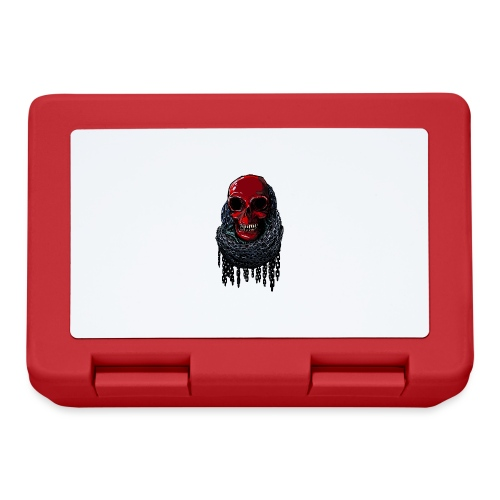 RED Skull in Chains - Lunchbox