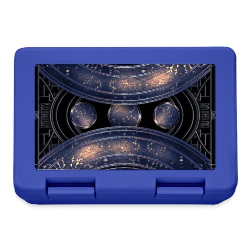 Universe outer space blue outer space galaxy art - Lunchbox