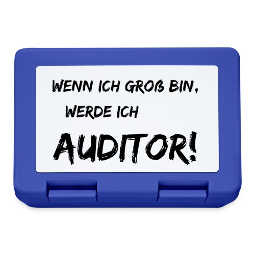 wenn ich gross bin... auditor black - Brotdose