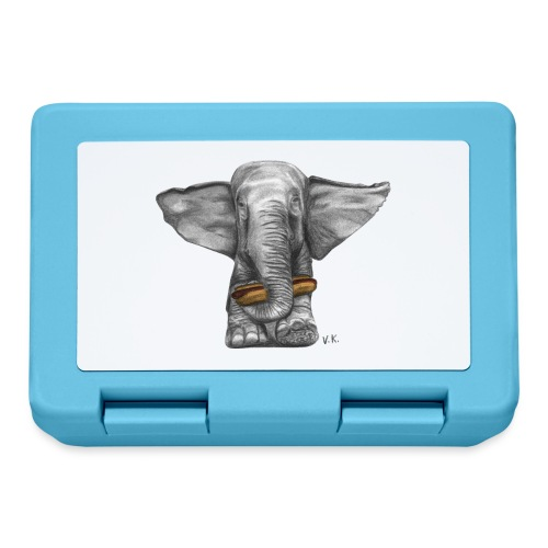 Elephant Eating Hotdog - Lunchbox